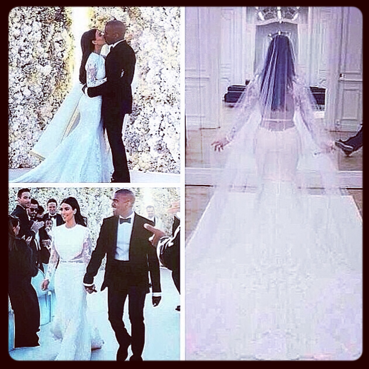 WEDDING-BLISS] Kim Kardashian wedding dress revealed in first photos ...